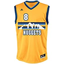 Adidas INT Replica Jrsy Camiseta, Hombre, Amarillo/Azul (NBA Denver Nuggets 8