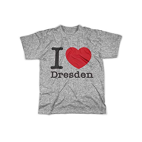 licaso Herren T-Shirt mit I Love Dresden Aufdruck in Grey Gr. XXXL I Love Dresden Design Top Shirt Herren Basic 100{aa4500eaec56cfa19c7658b2701ece748513d61caa59a6f6563776b191a4d906} Baumwolle Kurzarm