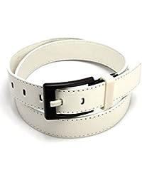 SAMGU Mens PU Ceinture en cuir anti-allergique Boucle ceinture