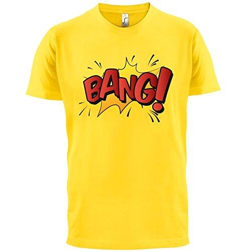 Superheld Bang - Herren T-Shirt - 13 Farben Gelb