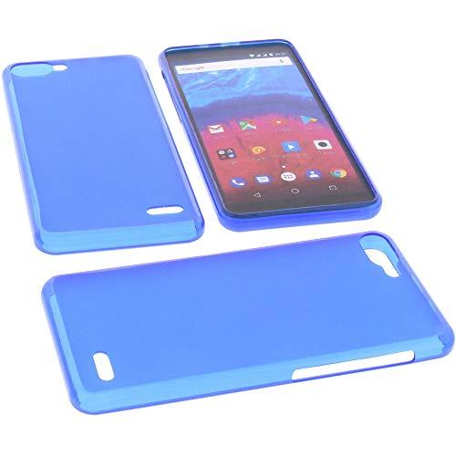 foto-kontor Tasche für Archos Core 55s Hülle Gummi TPU Schutz Handytasche blau