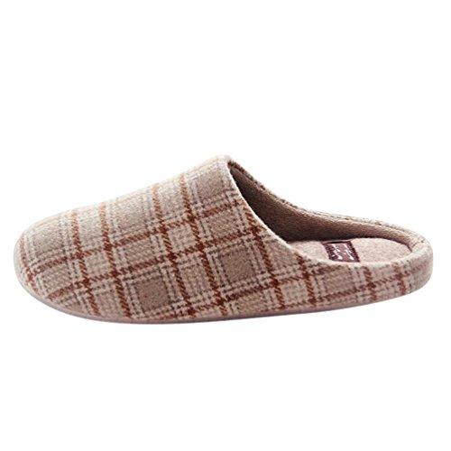 Baymate Unisexe Confort Pantoufles Chaud Anti-Dérapant Maison Chaussons