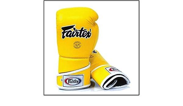 Fairtex Gants Boxe V6 Jaune 12 oz: : Sports et