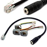 4P4C RJ9 / RJ10 bis 3.5mm Headset Adapterkabel Stereo Konverter Telefonkabel für iPhone Cisco IP Telefone 7931G 7940 7941 7942 Plantronics MX10 Vista Modular 30CM