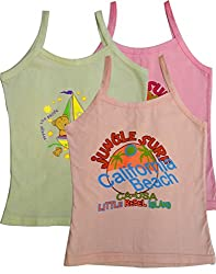 Kids Multicolored Camisole Vests (pack of 3) Size 60