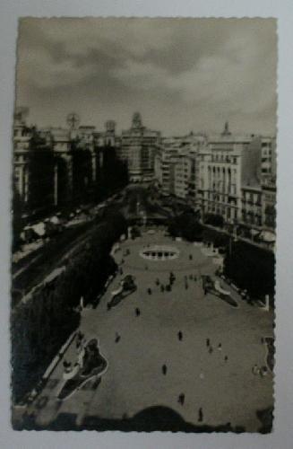 Antigua postal fotográfica. Old photo post card. Nº 105 - VALENCIA - Plaza del Caudillo