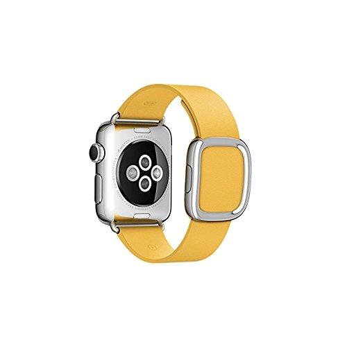 Preisvergleich Produktbild Apple Watch 38 mm modernes Lederarmband gelborange-small