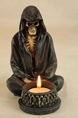 Vamundo Teelichthalter Skelett mit Umhang # Gothic DEKO