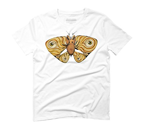 Angry moth Men's Graphic T-Shirt - Design By Humans White