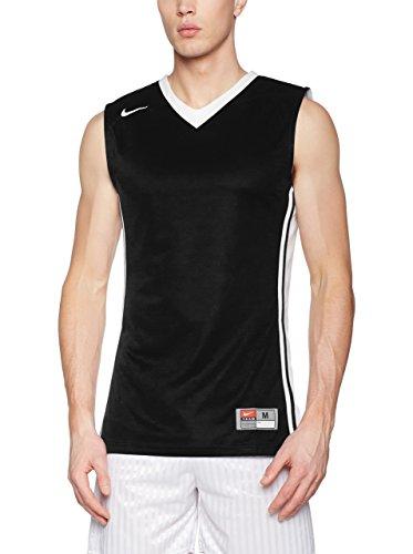 Nike Herren Trikot National Varsity Stock Basketballtrikot, schwarz / weiß, S/40-42, 639394-012