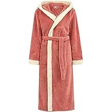 Bata de estar por casa de aprox. VJGOAL Invierno de Las Mujeres de Moda Casual Color sólido con Bata Pijamas Alargado de Manga