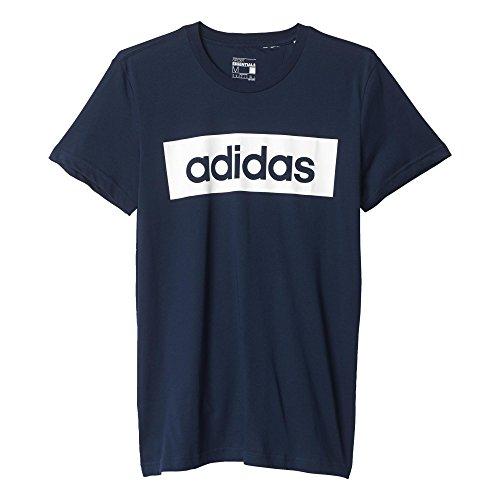 Adidas Lin Tee Maglia per Uomo - Multicolore (Blu/Bianco (Maruni/Bianco)) - L