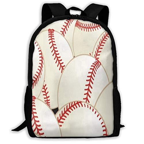 Deglogse Schulrucksack, Schultasche Travel Bookbag, Backpack for Girls Boys Pattern Baseball Zipper School Bookbag Daypack Travel Rucksack Gym Bag for Man Women (Baseball-geschenke Für Teen Boys)