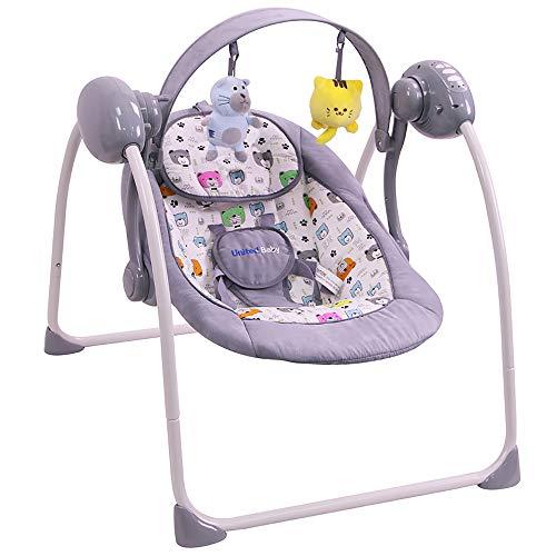 Elektrische Babyschaukel Automatische Baby Wiege Wippe SPARLY (USB adapter) (grau)