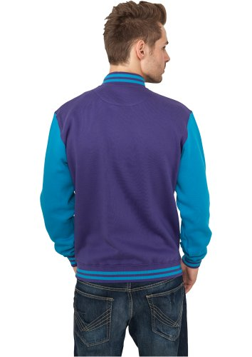 Urban Classics 2-Tone College Sweat t Black/Purple pourpre-turquoise