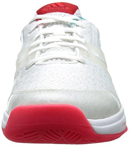 Chaussures Adidas Performance Adizero Ubersonic W Formation, choc rose / blanc / semi-solaire Slime, White/White/Shock Red