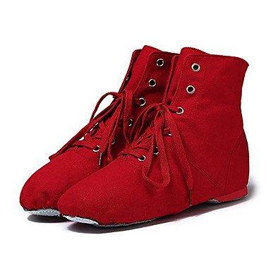 Wuyulunbi@ Kids' Jazz Pieno Sole Sneaker Professional tacco piatto Rosa Blu Rosso Verde mandorla sotto 1 Noi13.5 / EU31 / UK12.5 bambini piccoli