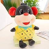 hokkk Lindo ratoncito 25-45cm muñeco de Peluche de Juguete para Enviar a Las niñas Regalos Dormir Almohada Rata niños Regalo de cumpleaños muñeca 35 cm Amarillo