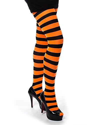 Collant Twickers Pamela Mann (Nero/Fluorescente Arancione)