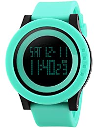 Naivo Swiss Automatic Brass Plated Stainless Steel and Rubber Watch, Color:Aqua Blue (Model: NAIVO-WATCH-1144)