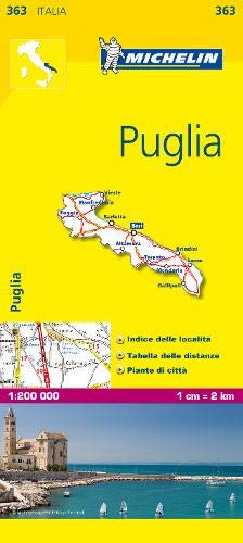Puglia - Michelin Local Map 363 (Mapas Local Michelin) (Michelin Maps Deutschland)