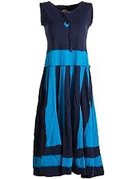 Langes Sommerkleid aus Baumwolle ohne Ärmel