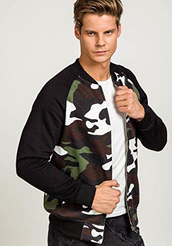 BOLF Herren Pullover Sweatshirts Langarm Pulli ohne Kapuze MIX Grün_2538A
