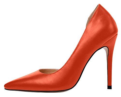 Guoar - Scarpe chiuse Donna (Orange PU)