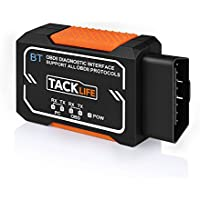 TACKLIFE OBD2 Scanner, Bluetooth OBD2 Diagnostic real-time scanning Tool,AOBD1B Auto Code Scanner,OBD-II Engine Fault Diagnostic Code Tester,Read Clear DTC for almost all OBD2 Vehicles