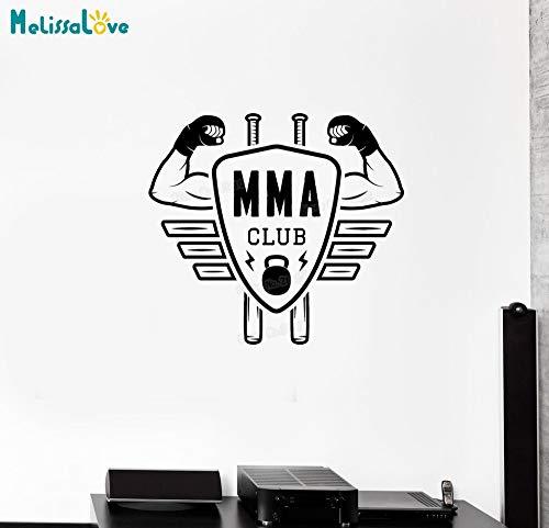 Neues Design Center Kampf Boxen Sport Martial Arts VinylWandaufkleber WohnkulturWohnzimmer Schlafzimmer Real Man Einzigartiges Geschenk62x56 cm