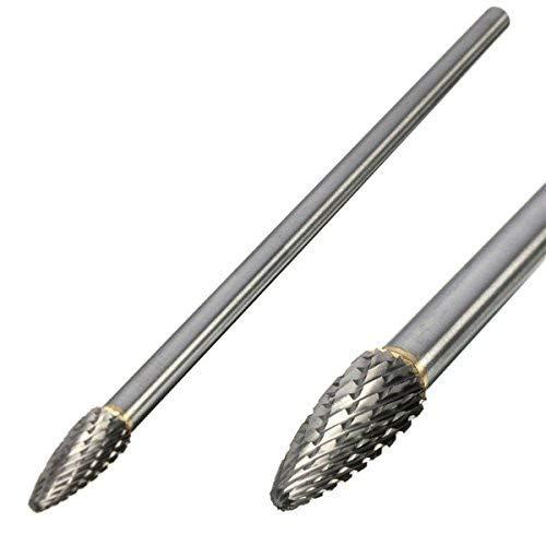 Burr 0.25 (KUNSE Rotary Burr 1/4 Inch Shank 6 Inch Lang Metall Schneider CNC-Gravur-Bit Für Dremel-Small F)