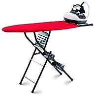 Takestop® Tabla de planchar plegable ejes doble función con escalera 3 peldaños escalera 3 pies taburete mesa resistente color diseño aleatorio