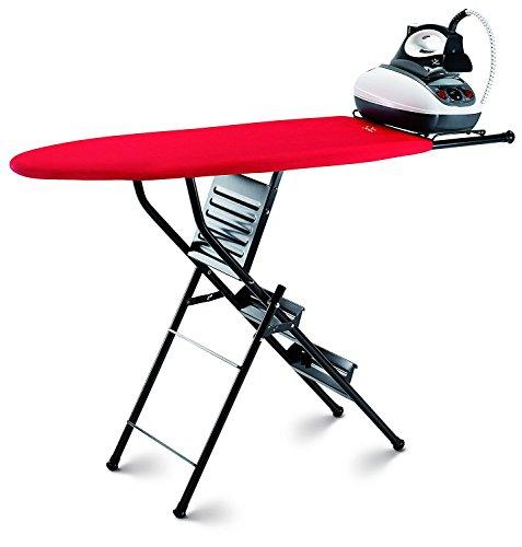 takestop Planche à repasser pliante axes Double Fonction avec échelle 3marches Escabeau 3pieds Tabouret Table résistante couleur fantaisie aléatoire