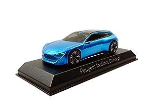 Norev-473893-Juego de construcción-Peugeot Instinct Concepto-Salón Genfer 2017-Escala 1/43, Azul Metal