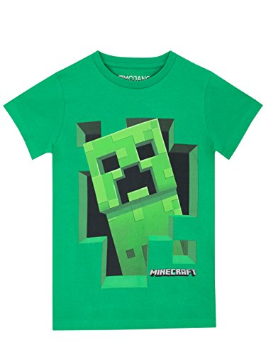 Minecraft Jungen Creeper T-Shirt - Elf Kostüm T Shirt