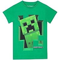 Minecraft Maglietta a Maniche Corta per Ragazzi