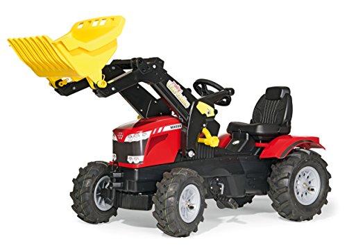 rolly toys 611140 Farmtrac - Tractor a pedales con pala delantera (Modelo de tractor Massey Ferguson 8650)