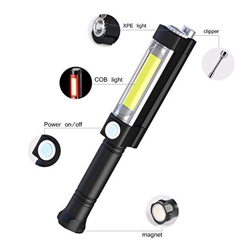 LED Arbeitsleuchte Portable Universal Inspektionsleuchten Taschenlampe Werkstattlampe Handlampe Campinglampe mit Magnetismus Basis für Auto Reparatur,Camping,Notbeleuchtung and Werk