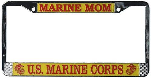 TAG FRAMES (MILITARY) Marine Mom US Marine Corps Nummernschild Rahmen (Chrom Metall) durch Tag Frames (Militär) -