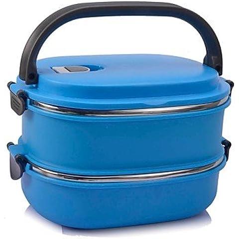 JSGN-neje 2 strati in acciaio inox scatola isolata lunchbox con maniglia