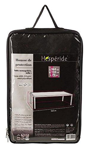 Housse de protection pour table rectangulaire - 265 x 75 x 125 cm - Coloris NOIR
