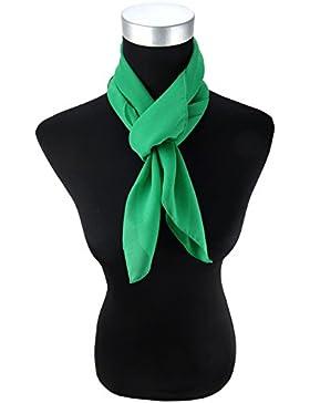 TigerTie - pañuelo de gasa - verde verde brillante monocromo tamaño 90 cm x 90 cm - bufanda