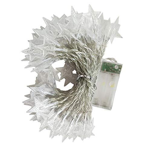 Felicy 2M 10 LED Crystal Clear Star Fairy String Licht Hochzeit Party Outdoor Decor Lampe (Gelb)