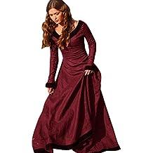 Mujer Vestido Gótico, WINWINTOM Vestido Medieval Vintage, Vestido de Princesa Cosplay, Vestido Renacentista