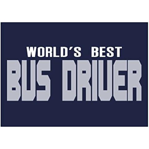 Teeburon WORLD'S BEST Bus Driver Sticker Pacchetto di 4