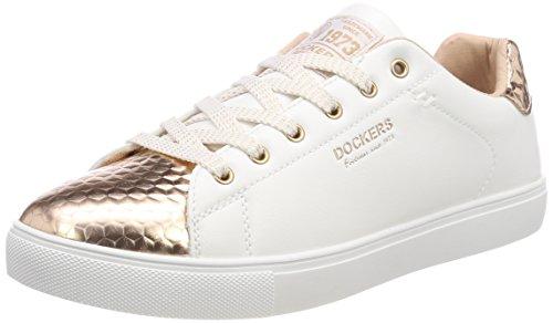 Dockers by Gerli Damen 38PD205-616592 Sneaker, (Weiss/Rosegold 592), 42 EU