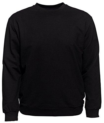 AHORN Rundhals Sweatshirt XXL-56/58 bis 10XL-82/84 Schwarz, Blau Schwarz