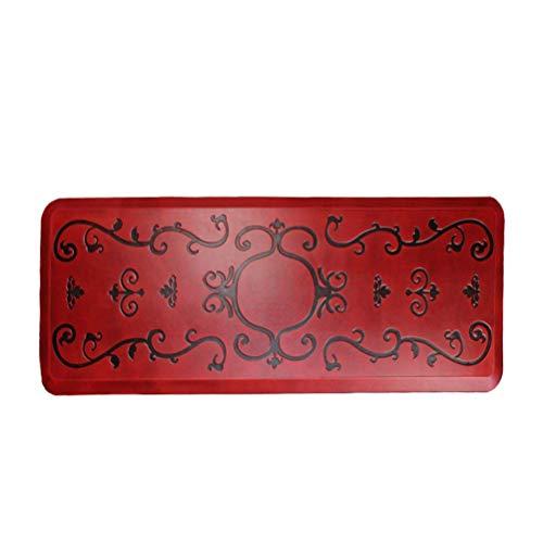 Urvigor Anti-Müdigkeitsmatte für Küche, Bad oder Arbeitsplätze, ergonomisch geformt, 50,8 x 99,1 x 1,9 cm, Rot 24x70x3/4-Inch red antique