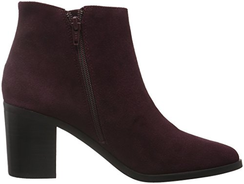 Buffalo 15b66-3 Cow Suede, Bottes Classiques femme Rouge - Rot (Burgundy 01)