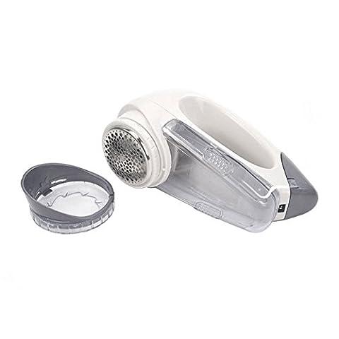 Lint Remover, Hikeren anti-bouloche / anti-peluche Electrique Portable Tissu Fuzz Shaver Pill Pour Vêtements/Tissus D'ameublement/Rideaux/Couvertures/Tapis -Dimensions: environ 16cm x 11.1cm x 7 cm